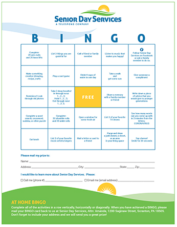 Senior Day Services At-Home BINGO Thumbnail-1